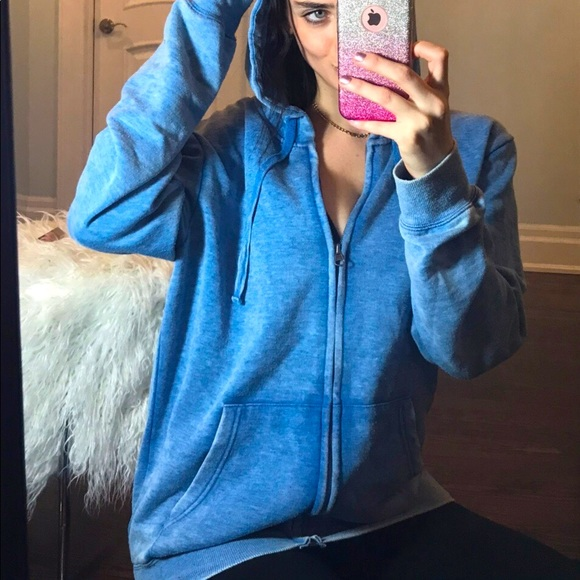 Cozy washed out zip up hoodie